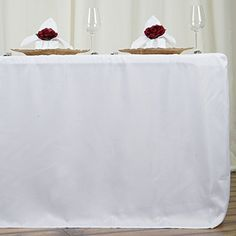 LinenTablecloth 6 ft. Fitted Polyester Tablecloth White L... https://www.amazon.com/dp/B008TLB8PI/ref=cm_sw_r_pi_dp_x_TtvcybEKJHQ4V