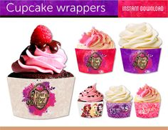 INSTANT DOWNLOAD - Ever After High, Cupcake wrappers, birthday party, digital file, printable file, printable paper. on Etsy, $4.00