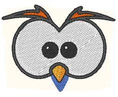 Hibou (visage) - motif de broderie de la boutique JoliKrea sur Etsy Owl face - embroidery design on JoliKrea Etsy