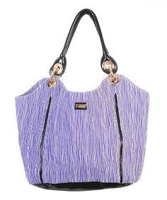 Love this Purple & Black Vertical Stripe Hobo Diaper Bag on #zulily! #zulilyfinds