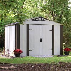 arrow 10 ft x 8 ft designer storage shed lowes canada