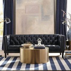 See the Montego Leather Chesterfield Sofa. Colorful Furniture, New Furniture, Luxury Furniture, Furniture Design, Furniture Online, Furniture Ideas, Contemporary Coffee Table, Modern Side Table, Modern Coffee Tables