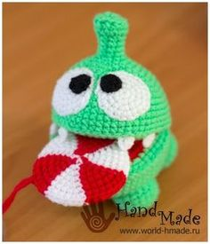 A favorite of children - a sweet tooth Om Nom (Om Nom). Knit crochet.
