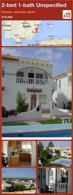 Unspecified for Sale in Rojales, Alicante, Spain with 2 bedrooms, 1 bathroom - A Spanish Life Valencia, Portugal, Alicante Spain, Spanish, Lounge, Mansions, Bathroom, House Styles, Bed