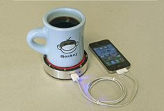 Charge your phone with your coffee or iced tea. Epiphany onE Puck - Own - Thrillist