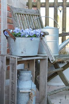 Galvanized tubs buckets