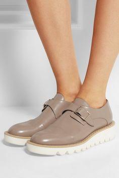 Stella McCartney|Odette faux leather loafers|NET-A-PORTER.COM