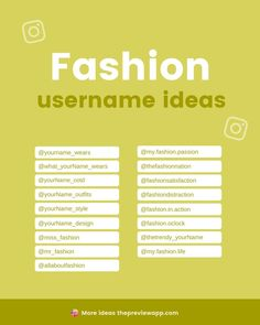 Do you have a fashion account? Are you a fashion blogger, clothing brand, or someone who just loves to show your aesthetic looks and style? These Instagram username ideas are amazing for anyone -- from fashion lovers showing their style to brands selling their clothes online. #instagramtips #instagramstrategy #instagrammarketing #socialmedia #socialmediatips