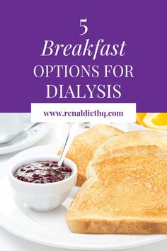Are you on dialysis due to chronic kidney disease? Knowing what food is best for your renal diet can be challenging. But here's a list of 5 renal diet breakfast recipes and options. Renal Diet Menu, Dialysis Diet, Dukan Diet, Diet For Dialysis Patients, Renal Diet Food List, Breakfast Options, Diet Breakfast, Breakfast Recipes, Protein Breakfast