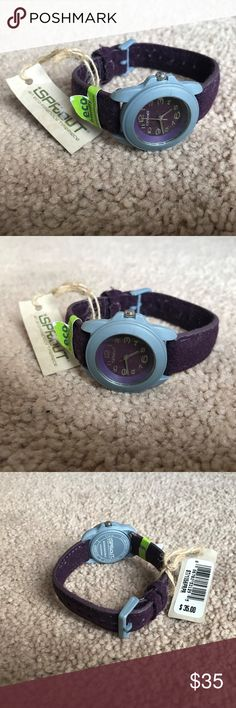 Sprout Women Watch Purple 100% Wool Felt Band Eco Sprout Women Watch Purple 100% Wool Felt Band Eco Friendly Resin Case Japan Movt  Eco Friendly  Corn Resin Case  Biodegradeable  An eco Friendly Timepiece  Brand: Sprout  Color: Purple  Strap made on 100% Wool Felt  Size: Belt ( adjustable )  Japan Movement  New with tag Sprout Accessories Watches