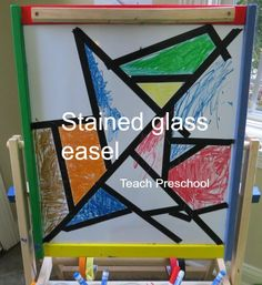 Stained Glass Easel Starter by Teach Preschool