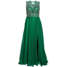 Plus Size Women's Mac Duggal Embellished Ballgown (4.010 NOK) ❤ liked on Polyvore featuring plus size women's fashion, plus size clothing, plus size dresses, emerald, plus size, embellished dress, beaded dress, embelished dress and plus size green dress