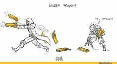 Ooooh Shiny Junkat gets Reapers golden guns// Junkrat is so cute I cant...