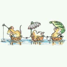 Ratinhos no lago
