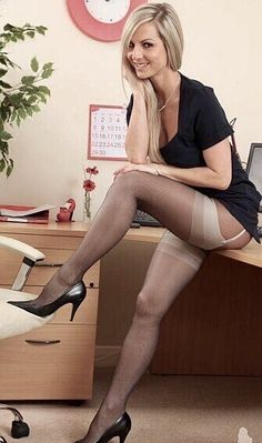 Great legs in sexy stockings reveal