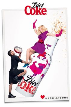 Marc Jacobs joins Ginta Lapina for Diet Coke