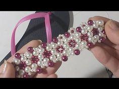 YouTube Beaded Jewelry, Beaded Bracelets, Beaded Crafts, Crochet Shoes, Bridal Jewelry Sets, Bead Weaving, Beading Patterns, Flip Flops, Jewelry Making