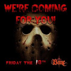 Still looking for Friday the 13th plans? Come greet the monsters at Bane who are just DYING to have you!! We are open tonight from 7-11! Tickets are available at the gate or on our website http://ift.tt/1pclac5!  Link in bio!! Z . . . . . . . . . . . . #fridaythe13th #friday #halloween #bane #banehauntedhouse #scary #spooky #fridaynight #fun #newjersey #hauntedhouse #haunted #newyorkcity  #lit #october #fall