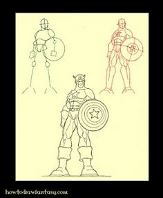 How to Draw Fantasy: How to draw Captain America