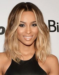 ciara+hairstyles | ciara-shoulder-length-ombre-hairstyle-becomegorgeous