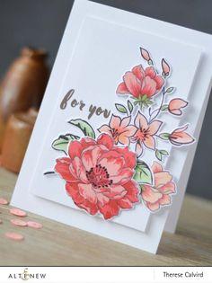 Lostinpaper - Altenew Best Mom / Beautiful Day / Peony Bouquet
