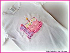 Camiseta ou Body - Bolo e Idade