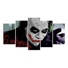 Joker Batman Comics Canvas Print Gift 5 Panels