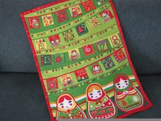 Advent+Calendar+Christmas+Babushka+Dolls+Wallhanging+by+bellazahn,+$65.00