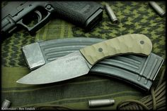 New model B.D.U. Belt knife by Ben Tendick of BRT Bladeworks