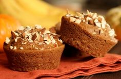 Banana Pumpkin Chai Muffins-GF/SF/DF and AMAZING!  I made these tonight but I didn't have any chickpea flour so I substituted 1/2c Teff flour & 1/2c sorghum and they came out wonderfully!  I made a batch with craisins in them & another with chopped walnuts.  DEVINE!