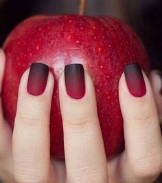Product Name Elegant Wine Red Christmas New Year Fake Nails Press on Nail Artificial Nail Tips with Glue Sticker Faux Ongles Unhas Gif. Black Ombre Nails, Burgundy Nails, Black Wedding Nails, Black Nails Short, Dark Red Nails, Matte Black Nails, Black Nail Art, Matte Red, Red Burgundy
