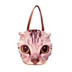 New Arrival Cartoon Cat Print and Zipper Design Shoulder Bag For Women Stylish Handbags, Cheap Bags, Cat Face, Online Bags, Fashion Bags, Cute Cats, Shopping Bag, Cartoon, Zipper