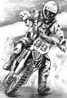 """""""Dirt Bike"""" by Ally Tate - colouring pages and pencil sketches - Motorrad Motocross Tattoo, Dirt Bike Tattoo, Motocross Bikes, Car Drawing Pencil, Bike Drawing, Pencil Drawings, Stunt Bike, Motorcycle Art, Bike Art"""