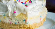 No-Bake Funfetti Lush – 12 Tomatoes Delicious Desserts, Dessert Recipes, Yummy Food, Dessert Ideas, Baking Recipes, Healthy Food, Oreo Milk, Cookie Crunch, Types Of Desserts
