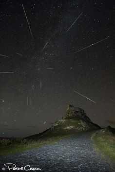 Astrophotographer Peter Greig drove two hours to Lindisfarne Castle located on Holy Island, Northumberland, UK, to produce this amazing composite image of Perseid meteors falling on August 11, 2013. See more photos here: http://oak.ctx.ly/r/9qcc