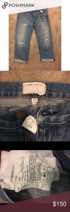 Current/Elliott Boyfriend Jeans NWT Current/Elliott boyfriend jeans. Amazing jeans just in time for cold weather Current/Elliott Jeans Boyfriend