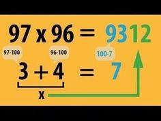 Multiply – The teacher's version – ingenious mental arithmetic – super-sharp SECRET! Multiply – The teacher's version – ingenious mental arithmetic – super-sharp … Mental Calculation, Fun Math Games, Simple Math, Arithmetic, Multiplication, Math Lessons, Kids And Parenting, Kids Learning, Decir No