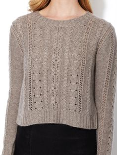 Velvet Giora Cashmere Sweater Needs color, but lovely pattern