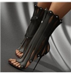 Shoespie #SpaceAge Falbala Shape Stiletto Heel Dress Sandals (black Or White) from $150.0