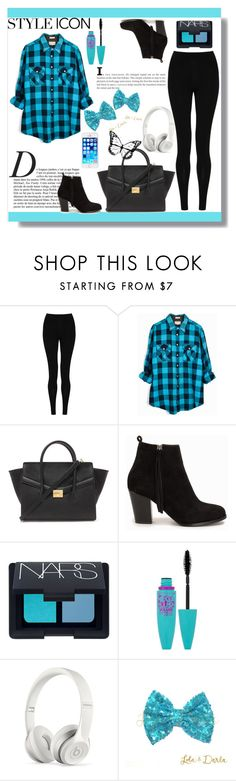 """""""Blue ^^."""" by dzeniita10 ❤ liked on Polyvore featuring M&S Collection, Anja, Forever 21, Nly Shoes, NARS Cosmetics, Maybelline, Beats by Dr. Dre, women's clothing, women and female"""