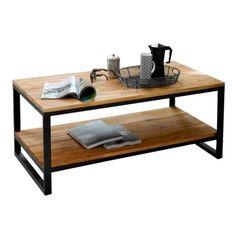 mesa ratona hierro y madera.diseño industrial