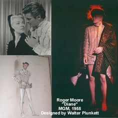 """#Roger Moore, """"#Diane,"""" MGM, 1955, Designed by #Walter Plunkett #The Collection of Motion Picture Costume Design: #Larry McQueen"""