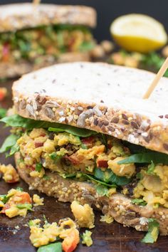 Give your lunch a delicious makeover with this tasty vegan Curried Chickpea Sandwich packed with proteins and flavours. Chickpeas are mashed to a chunky paste and mixed with a fragrant spice blend. Some crunchy raw vegetables give this sandwich an extra dimension. Easy and straightforward, you can have it ready in less than 10mins. This […]