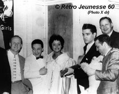 André Pousse, Torrebruno, Nancy Holloway, Elvis. During Elvis' Army duties, he found some time to leave Germany for a little off-duty fun. One example was a 2-week furlough in June 1959, when he traveled to Paris. Wednesday, June 17, he caught Italian entertainer Torrebruno, U.S. singer Nancy Holloway & others at the Moulin Rouge. |** this photo does not appear to be from the June 17 visit, as  Nancy & Elvis are wearing different outfits. *Elvis strumming Torrebruno's classical acoustic…