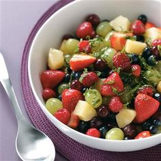 Pina Colada Fruit Salad Recipe -Give friends a taste of the tropics on warm summer days with this refreshing fruit blend. For a little extra punch, you might add a splash of coconut rum. —Carol Farnsworth, Greenwood, Indiana Pina Colada Fruit Salad Recipe, Best Fruit Salad, Fruit Salad Recipes, New Fruit, Fruit Salads, Fruit Fruit, Fruit Drinks, Fruit Smoothies, Salad Recipes Holidays