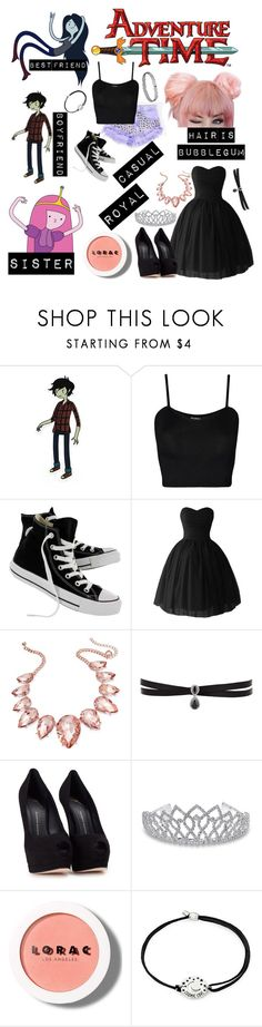 """Me in Adventure Time"" by xxstar-childxx ❤ liked on Polyvore featuring WearAll, Converse, Thalia Sodi, Fallon, Giuseppe Zanotti, Bling Jewelry, LORAC and Alex and Ani"