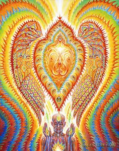 Alex Grey  http://alexgrey.com/wp-content/uploads/2012/06/Alex_Grey_Seraphic-Transport1.jpg