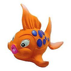 LANCO Natural Rubber Bath Toy, Goldfish  -  Click image twice for more info - See a larger selection of  Baby Bath toys at  http://zbabybaby.com/category/baby-categories/baby-and-toddler-toys/baby-bath-toys/ - gift ideas, baby , baby shower gift ideas « zBabyBaby.com