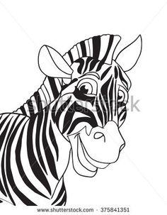 Zebra. Zebra animal. Cute animals Zebra Portrait isolated on white paper background. Black and white color illustration. Cartoon character Cute zebra. For child event, Holiday print, web, poster album