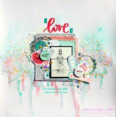 scrapbooking Pretty Little Studio Loving U, Pretty Little, Creations, Studio, My Love, Scrapbook Layouts, Blog, Album, Design